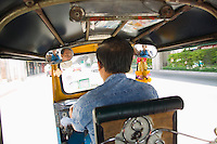 Tu Tuk cab on streets of Bangkok Thailand&#xA;<br />
