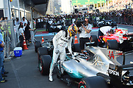 Lewis Hamilton of Mercedes AMG Petronasafter coming fifth in the Azerbaijan Formula One Grand Prix at Baku City Circuit, Baku<br /> Picture by EXPA Pictures/Focus Images Ltd 07814482222<br /> 25/06/2017<br /> *** UK &amp; IRELAND ONLY ***<br /> <br /> EXPA-EIB-170625-0053.jpg
