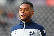 Millwall defender Mahlon Romeo (12) in the warm up during the EFL Sky Bet Championship match between Derby County and Millwall at the Pride Park, Derby, England on 14 December 2019.