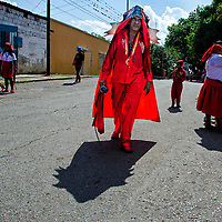 Los Diablos danzantes de Yare son una festividad religiosa que se celebra en San Francisco de Yare, Estado Miranda (Venezuela), el día de Corpus Christi. The Dancing Devils of Yare (Diablos Danzantes del Yare) is the name of a religious festivity celebrated in San Francisco de Yare, Miranda state, Venezuela, at the Corpus Christi day. San Francisco de  Yare, 4 de Junio del 2015. (Jimmy Villalta)