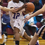 12/27/11 Wilmington DE: South Shore Senior Guard Radasha Pope #12 drives the lane during a Diamond State Classic game Tuesday Dec. 27, 2011 at St. Elizabeth High School High School in Wilmington Delaware.<br /> <br /> Special to The News Journal/SAQUAN STIMPSON