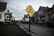 OHIO, Toledo, October 28, 2012: No through road in North-East neighborhood in Toledo. ALESSIO ROMENZI