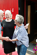 18/07/2017 Repro Free:      Tom Kenny with Marie Mullen and Garry Hynes  at the opening night of Crestfall by Mark Rowe directed by Annabelle Comyn at the Mick Lally Theatre, Druid Lane Galway  during the 40th Galway International Arts Festival. Photo:Andrew Downes, xposure .