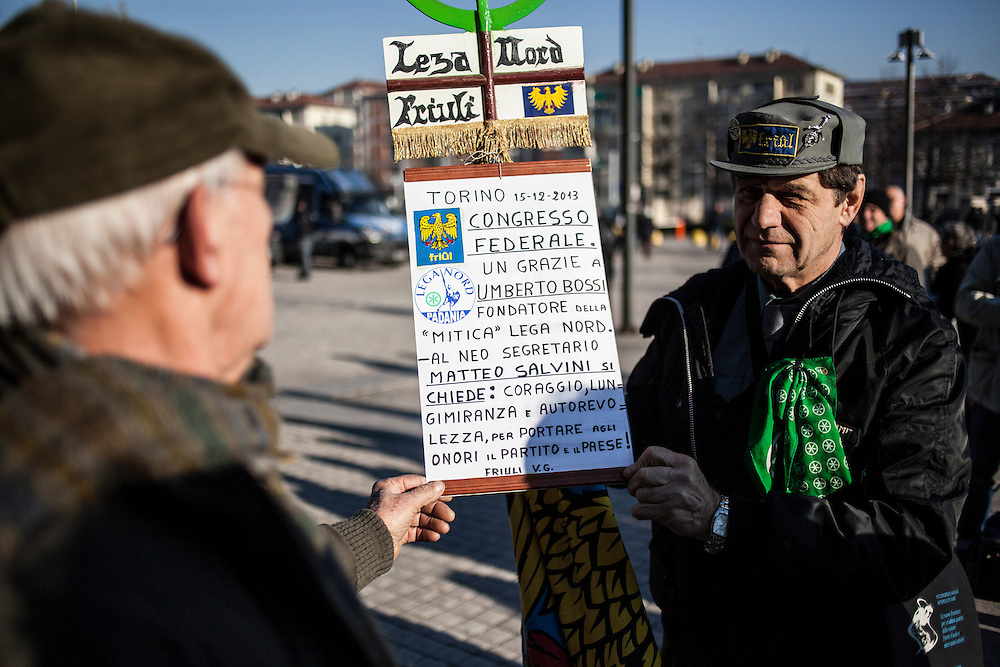 Turin, 2013/12/15. &quot;Lega Nord&quot; Party Federal Congress.<br /> IN THE PICTURE: Lega Nord folkloristic supporter.