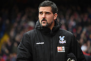 Julian Speroni watches on during the Barclays Premier League match between Crystal Palace and Liverpool at Selhurst Park, London, England on 6 March 2016. Photo by Michael Hulf.