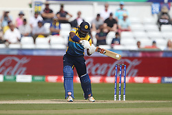 June 28, 2019 - Chester Le Street, County Durham, United Kingdom - Kusal Perera of Sri Lanka batting during the ICC Cricket World Cup 2019 match between Sri Lanka and South Africa at Emirates Riverside, Chester le Street on Friday 28th June 2019. (Credit Image: © Mi News/NurPhoto via ZUMA Press)
