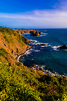 Rugged coastline along State Highway 1, Mendocino County, California USA.