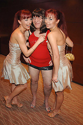 Left to right, GABRIELA IRIMIA, STEPHEN POUND MP and MONICA IRIMIA at the Macmillan Cancer Suport Parliamentay Palace of Varieties Show held at the Intercontinental Hotel, Park lane, London on 7th February 2008.<br /><br />NON EXCLUSIVE - WORLD RIGHTS