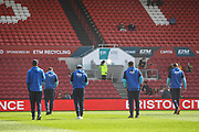 Birmingham City players inspect the pitch, before the EFL Sky Bet Championship match between Bristol City and Birmingham City at Ashton Gate, Bristol, England on 7 May 2017. Photo by Andrew Lewis.