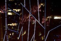 SOHO building in Beijing glow in the dark.