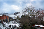 winter rural scenic landscape France Languedoc Aude Razes