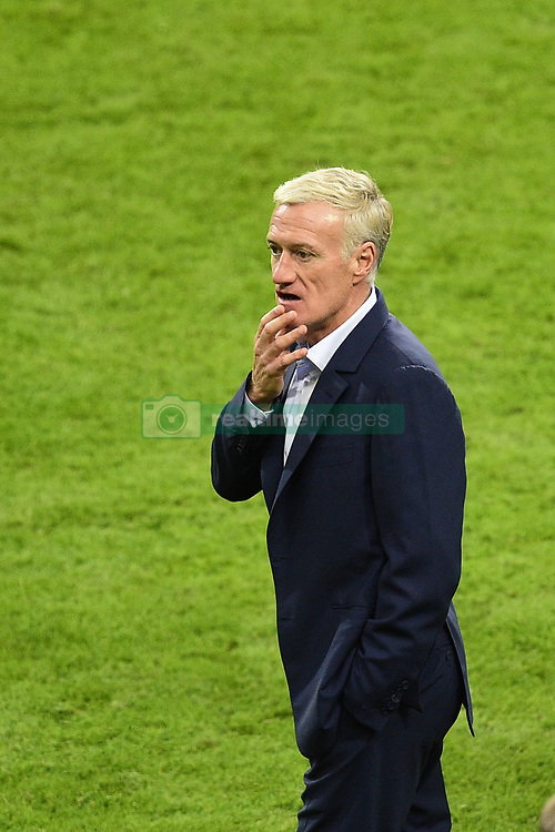 October 10, 2017 - St Denis, France, France - joie des joueurs de l equipe de France en fin de match.Didier Deschamps - selectionneur  (Credit Image: © Panoramic via ZUMA Press)