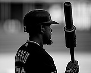 CHICAGO - APRIL 08:  Jose Abreu #79 of the Chicago White Sox looks on against the Tampa Bay Rays on April 8, 2019 at Guaranteed Rate Field in Chicago, Illinois.  (Photo by Ron Vesely)  Subject:   Jose Abreu