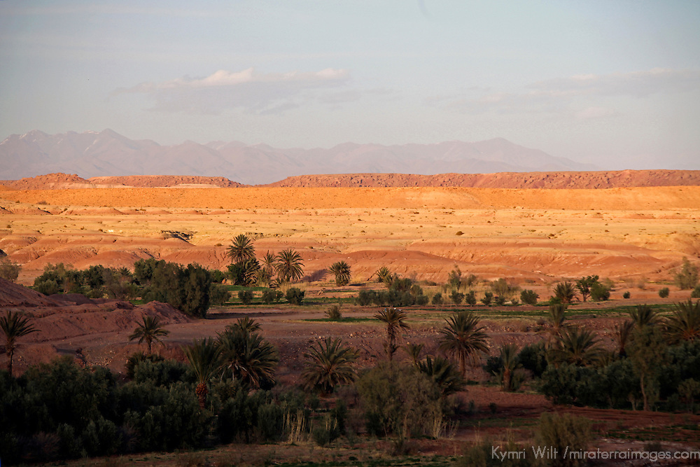 Africa, Morocco, Ouarzazate. Sunset view of Ouarzazate region.