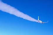 High altitude airplane contrail