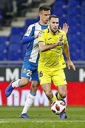 January 17, 2019 - Barcelona, Catalonia, Spain - Alfonso Pedraza (16) of Villarreal CF and Javi Puado (20) of RCD Espanyol during the match RCD Espanyol v Villarreal CF, for the round of 16 of the Copa del Rey played at Camp Nou  on 17th January 2019 in Barcelona, Spain. (Credit Image: © Mikel Trigueros/NurPhoto via ZUMA Press)