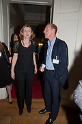 FRANCES OSBORNE; WILLIAM SIEGHART, Streetsmart Reception at 11 Downing St. London. 1 November 2011. <br /> <br />  , -DO NOT ARCHIVE-© Copyright Photograph by Dafydd Jones. 248 Clapham Rd. London SW9 0PZ. Tel 0207 820 0771. www.dafjones.com.