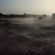 """Sand storms called """"Sirocco"""" are frequent in the Western Refugee camps in Tindouf, Algeria. The storms make life very difficult in the camps. Western Sahara refugees have lived here since the 1975 Morocco occupation of their lands"""