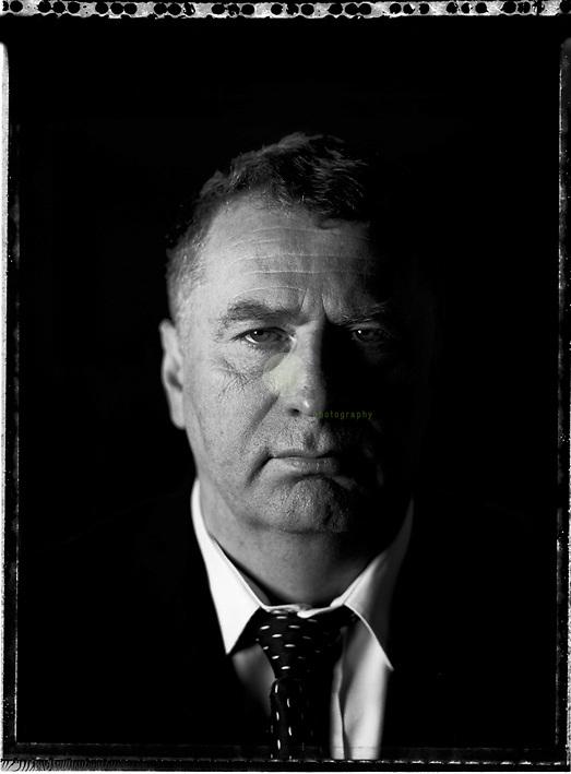 Vladimir Zhirinovsky, photographed on a 4x5 inch SINAR camera.<br /> <br /> &copy; 2011 Martin von den Driesch