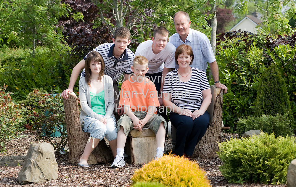 24/5/2008.The McDonald family picture at Wandesforde House near Castlecomer in Kilkenny..Back from left  Conor, Cormac and Michael..Front from left Fiona, Brian and Anna..Picture Dylan Vaughan.