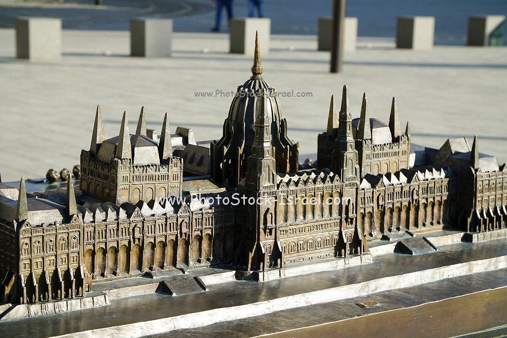 Eastern Europe, Hungary, Budapest, model of the Hungarian Parliament Building