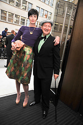 STEPHEN JONES and ERIN O'CONNOR at a reception hosted by Vogue and Burberry to celebrate the launch of Fashions Night Out - held at Burberry, 21-23 Bond Street, London on 10th September 2009.