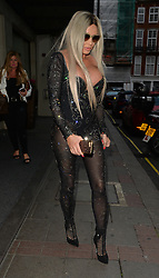 Katie Price wearing a black sheer catsuit leaves the Mayfair hotel to find a parking ticket on her pink Rnage Rover which was parked on a double yellow line.... London, UK. 29/06/2017<br />BYLINE MUST READ : GOTCHAIMAGES.COM<br /><br />Copyright by © Gotcha Images Ltd. All rights reserved.<br />Usage of this image is conditional upon the acceptance <br />of Gotcha Images Ltd, terms and conditions available at<br />www.gotchaimages.com
