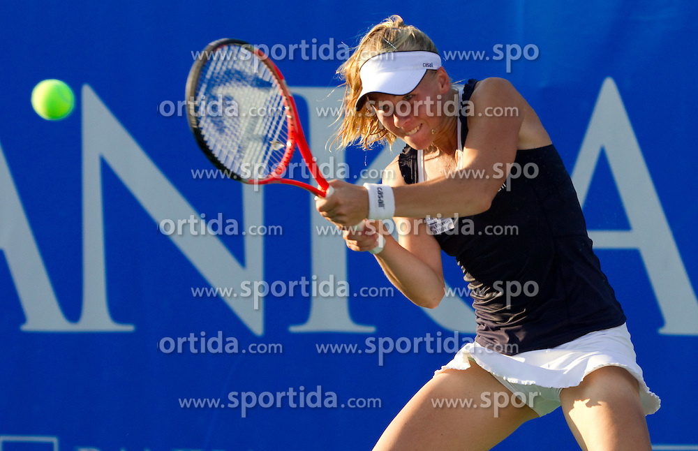 Johanna Larsson of Sweden at 2nd Round of Singles at Banka Koper Slovenia Open WTA Tour tennis tournament, on July 22, 2010 in Portoroz / Portorose, Slovenia. (Photo by Vid Ponikvar / Sportida)