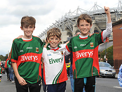 Coggins boys from Crossmolina supporting Mayo at the All Ireland final replay.<br />