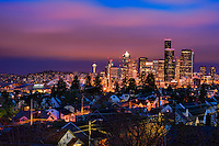 Seattle Skyline, Beacon Hill, Morning