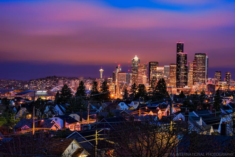 Seattle Skyline, Beacon Hill, Morning