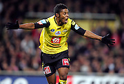 Michel Bastos of Lille celebrates scoring the opening goal against Toulouse during the first half of extra time of the 1/4 Final of la Coupe de France, Stade Municipal, Toulouse, France, 18th March 2009.