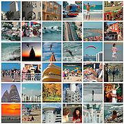 36 image Collage of Tel Aviv, Israel
