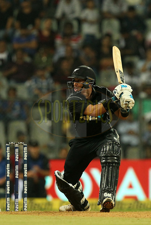 Ross Taylor of New Zealand  during the 1st One Day International match between India and New Zealand held at the Wankhede Stadium in Mumbai on the 22nd October 2017Photo by Prashant Bhoot / BCCI / SPORTZPICS