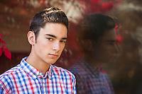 Matt senior portrait session at Belknap Mill Laconia.  ©2015 Karen Bobotas Photographer