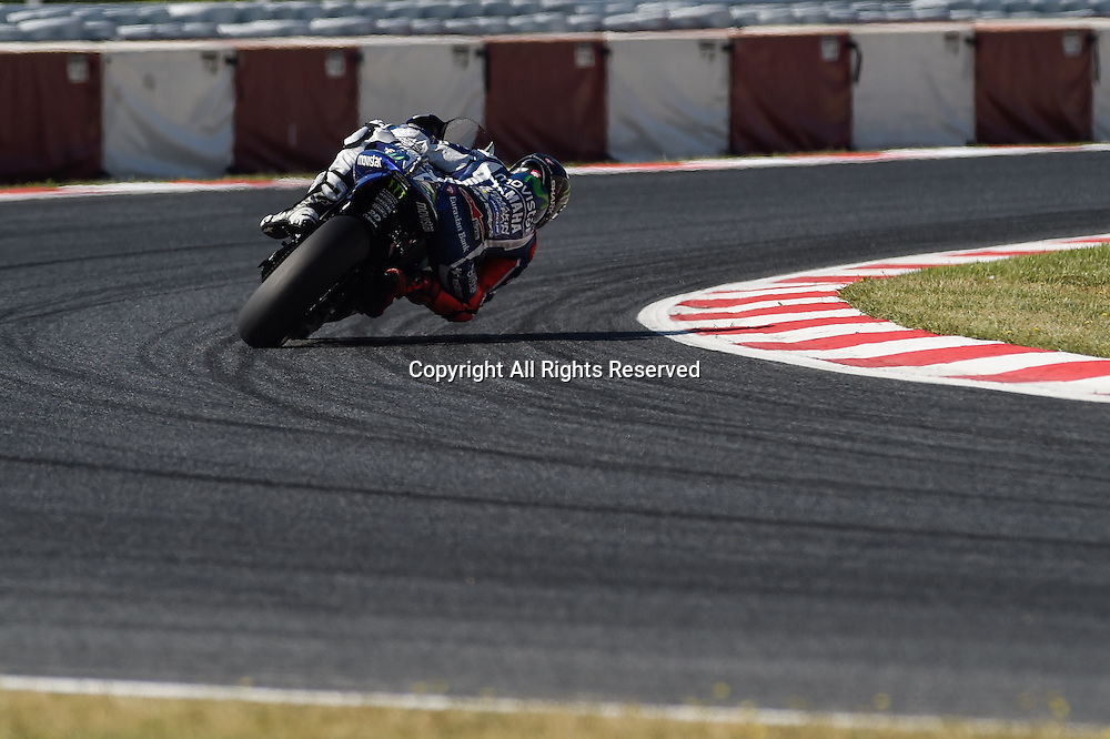 03.06.2016. Circuit de Barcelona, Barcelona,Spain. Grand Prix Monster Energy de Catalunya. Practice day. Jorge Lorenzo (Movistar Yamaha) during the free practice sessions.