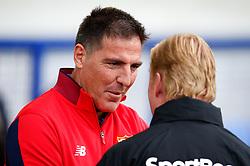 Sevilla manager Eduardo Berizzo talks with Everton manager Ronald Koeman - Mandatory by-line: Matt McNulty/JMP - 06/08/2017 - FOOTBALL - Goodison Park - Liverpool, England - Everton v Sevilla - Pre-season friendly