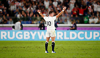 Rugby Union - 2019 Rugby World Cup - Semi-Final: England vs. New Zealand<br /> <br /> George Ford of England celebrates at International Stadium Yokohama, Kanagawa Prefecture, Yokohama City.<br /> <br /> COLORSPORT/LYNNE CAMERON