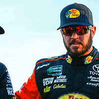 November 02, 2018 - Ft. Worth, Texas, USA: Martin Truex, Jr (78) hangs out in the garage during practice for the AAA Texas 500 at Texas Motor Speedway in Ft. Worth, Texas.
