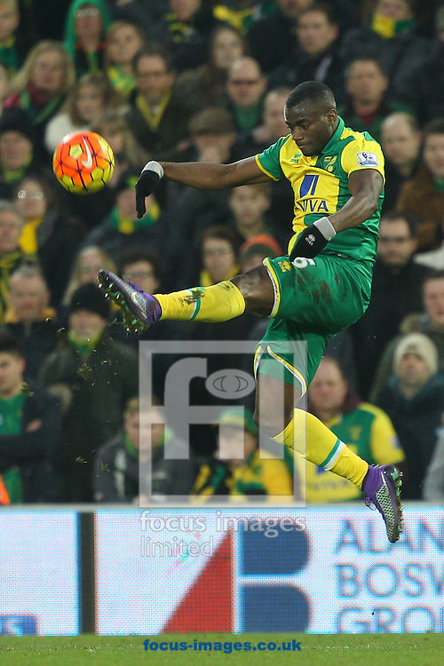 Sebastien Bassong of Norwich in action during the Barclays Premier League match at Carrow Road, Norwich<br /> Picture by Paul Chesterton/Focus Images Ltd +44 7904 640267<br /> 13/02/2016