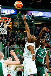 William Kendrick Gregory of Union Olimpija during second semi-final match of Basketball NLB League at Final four tournament between KK Union Olimpija and Krka (SLO), on April 19, 2011 at SRC Stozice, Ljubljana, Slovenia. (Photo By Matic Klansek Velej / Sportida.com)