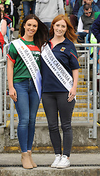 Mayo Rose Sandra Ganly from Ballaghadeeren and Newport&rsquo;s Clare McManamon Southern California Rose pictured at McHale Park on saturday last.<br />Pic Conor McKeown