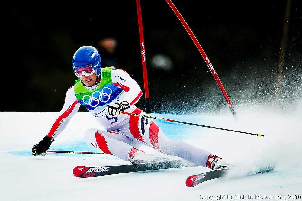 Benjamin Raich, AUT, competes in the Men's Giant Slalom during the 2010 Vancouver Winter Olympics in Whistler, British Columbia, Tuesday, Feb. 23, 2010.