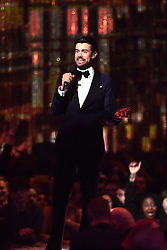 Jack Whitehall on stage at the Brit Awards 2019 at the O2 Arena, London. Photo credit should read: Matt Crossick/EMPICS Entertainment. EDITORIAL USE ONLY