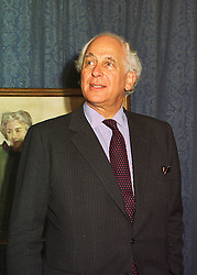 SIR EVELYN DE ROTHSCHILD  at an exhibition in London on 23rd April 1998.<br /> MGZ 19
