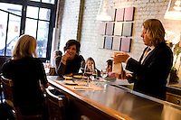8 October, 2008. New York, NY. Tim Kopec, Wine Director, serves  his customers having lunch at the Veritas Restaurant  in the Flatiron district, NYC.<br /> <br /> ©2008 Gianni Cipriano for The New York Times<br /> cell. +1 646 465 2168 (USA)<br /> cell. +1 328 567 7923 (Italy)<br /> gianni@giannicipriano.com<br /> www.giannicipriano.com