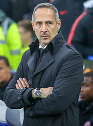 09.05.2019, Stamford Bridge, London, ENG, UEFA EL, FC Chelsea vs Eintracht Frankfurt, Halbfinale, Rückspiel, im Bild Adi Hütter, Head Coach of Eintracht Frankfurt // Adi Hütter, Head Coach of Eintracht Frankfurt during the UEFA Europa League semifinal 2nd leg match between FC Chelsea and Eintracht Frankfurt at the Stamford Bridge in London, Great Britain on 2019/05/09. EXPA Pictures © 2019, PhotoCredit: EXPA/ Focus Images/ Steve O'Sullivan<br /> <br /> *****ATTENTION - for AUT, GER, FRA, ITA, SUI, POL, CRO, SLO only*****