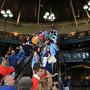 Baseball fans arrive for the game in the Jackie Robinson Rotunda at Citi Field Stadium before the New York Mets V Washington Nationals Baseball game at Citi Field, Queens, New York. USA. 28th June 2013. Photo Tim Clayton