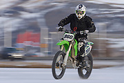 Winter sports in Iceland. Icecross Akureyri.