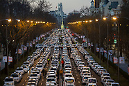 20190128 Taxi Drivers Strike - Paseo Castellana